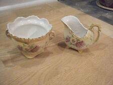 Antique Hand painted Creamer & Sugar Bowl Set, Austria