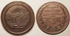 """Grande médaille Argentine, Buenos Aires, Inauguration du port """"la Plata"""" 1890 !!"""