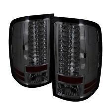 Tail Lights GMC Sierra 1500-3500 NO Dual Rear 4 Wheels 2007-2012 LED - Smoke