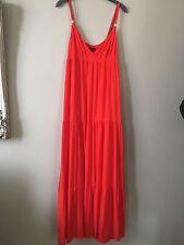 Armani Exchange Orange Lined Tiered Maxi Dress Size 10 (6) - Beautiful