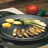 Chefmaster Smokeless Indoor Kitchen Stovetop Barbecue Grill Pan Griddle