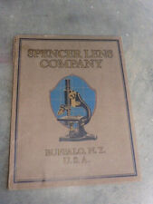 1924 Spencer Lens Co Microscope Scientific Optical Instruments Catalog Illust @@