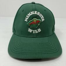 Minnesota Wild NHL Trucker Adjustable Snapback Hat Cap Fanatics Green EUC