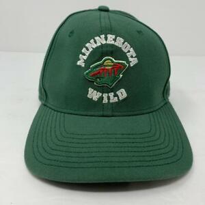 Minnesota Wild NHL Trucker Adjustable Snapback Hat Cap Fanatics Green EUC