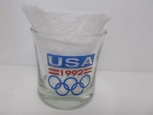 1992 USA Winter Olympic Games ALBERTVILLE / SUMMER BARCELONA Tumbler Glass