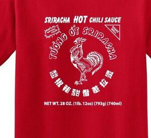 Sriracha Hot Chili Sauce  Red Men's T-Shirt up to 5X