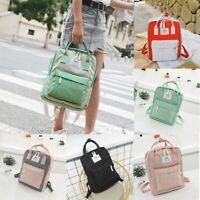 Fashion Womens Girl Students Canvas Shoulder Bag School Bag Travel Tote Backpack