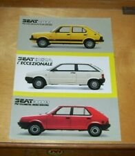 SEAT FURA IBIZA RONDA SALES SPECIFICATION LEAFLET Not dated In Italian