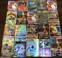 Pokemon Card Lot 10 OFFICIAL TCG Cards One Ultra Rare Included-GX, EX, MEGA or V
