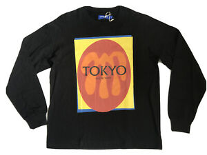 KNOW WAVE TOKYO T-shirt Small Mens Long Sleeve Black Tee NEW