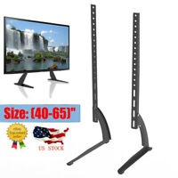 "Universal TV Wall Tabletop Stand Bracket Pedestal Mount Base For 40""-65"" LCD LED"