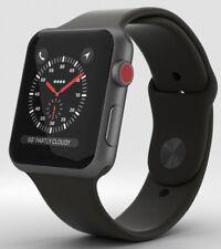 Apple Watch Series 3 42mm Space Gray Aluminium w/Black Sport Band GPS & Cellular