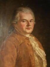 Ecole françaiseEpoque XVIIIème Portrait de Gentilhomme Huile sur toile