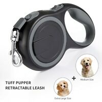 Retractable Dog Leash Heavy Duty Walking Leash with Anti-Slip Handle  Gray
