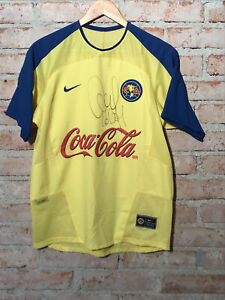America Mexico 2004 Nike Home #7 Claudio Lopez Matchworn Signed