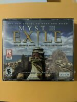 Myst III Exile Windows PC/MAC CD ROM Video Game 2001 Ubisoft SEALED Jewel Case