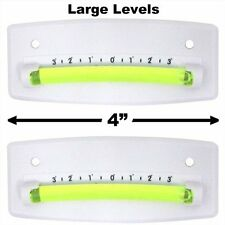Bubble Graduated Scale Level RV Level One Pair Trailer Leveler Large (White)