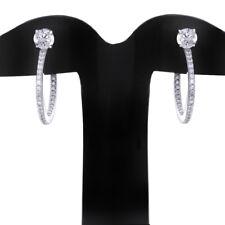 QVC 2.6ct Round Cut Simu Diamond Sterling Hoop Earrings