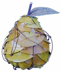 Leaf Pear Natural Country Rustic Hand Made Fruit Craft Floral Decor Filler 364