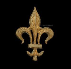Unidentified Collar Badge Fleur de Lys- Manchester Regiment? Commonwealth Unit?