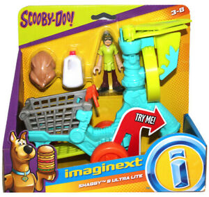 SHAGGY & ULTRA LITE scooby-doo Fisher Price NEW Imaginext figure shopping cart