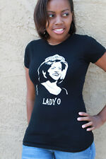 LADY O MICHELLE OBAMA TEE WOMEN'S T-SHIRT BLACK - SMALL - LAST ONE