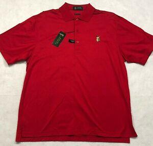 Highlands Country CLub Golf Polo Shirt Medium Red Cotton NEW