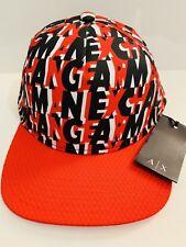 New Armani Exchange AX Mens ColoredBlocked AllOver Printed Logo Hat