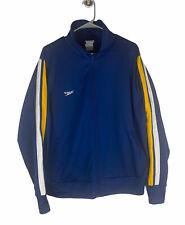 Speedo Blue Yellow White Track Jacket Mens Extra Large XL