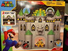 NINTENDO SUPER MARIO DELUXE BOWSER'S CASTLE PLAYSET w EXCLUSIVE BOWSER FIGURE