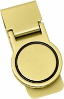 Orbital Shiny Gold Stainless Steel Hinged Money Clip