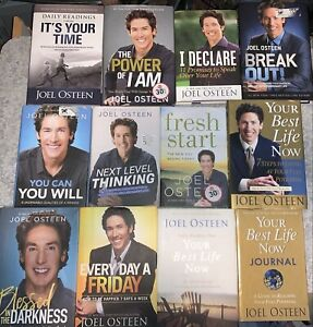 Lot Of 12 Joel Osteen Hardcover Books
