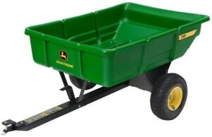 John Deere 450 lb. 7 cu. ft. Tow-Behind Poly Utility Cart Riding Mower Tractor
