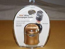 Bar Kitchen Velvet Air Tight Wine / Champagne Bottle Sealer New Sealed