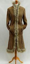 NEXT 02/09 Stile Afgano In Finta Pelle Di Pecora Cappotto Lungo in Pelliccia Sintetica UK 12 US 8 EU 40