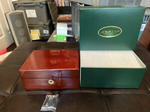NEW Orbita Cherrywood 3 Watch Storage Case, Locking With Key