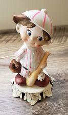 VINTAGE Ceramic Baseball Boy Figurine Lamp - Aladdin Gifts