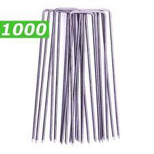 1000 Picchetti Acciaio per Giardinaggio e Ancoraggio Telo Pacciamatura 15x2,5 cm
