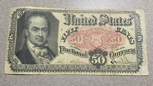 1875 Fractional Currency 50 Cent Bill