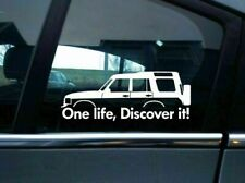 2 One Life Discover it! silhouette stickers for Land Rover Discovery classic Q70