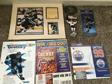 "Wayne Gretzky Lot, Matted Lithograph 8""x10"" & 3""x5"" #6555, SLU, Coaster, etc."