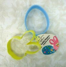 Hallmark Party Express Easter Cookie Shapers Cutters Bunny Face and Egg plastic