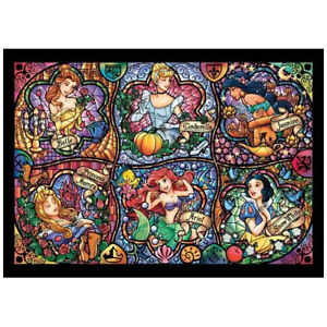 Tenyo Disney Brilliant Princess Stained Glass Puzzle 500 Pieces