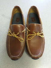 Cole Haan brown leather, boat shoe style driving shoes, Men's 9.5 M