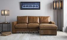 Belsay Vintage Brown Tan Leather Corner Sofa Chaise LHF RHF Colours