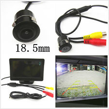"18.5mm CCD Car Reverse Parking Camera Kit 4.3"" TFT LCD Display Monitor For Ford"