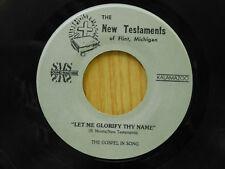 R. Morris 45 Let Me Glorify Thy Name / Pass Me   New Testaments VG- / VG