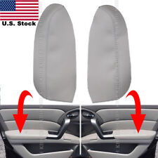 2pcs Leather Front Door Panel Armrest Cover Fits for Acura RDX 2007-2012 Gray