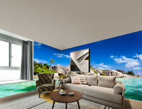 3D Ocean Sea Landscape Self-adhesive TV Background Mural Wallpaper Wall Decal