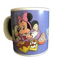 Vintage Walt Disney Applause Mickey & Minnie Mouse I Miss You Coffee Mug 1987